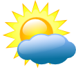 It is forcast to be Partly Cloudy at 11:00 PM PDT on October 25, 2014