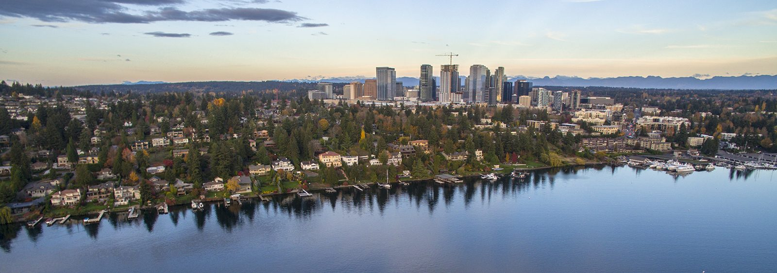 Bellevue, Washington skyline from Lake Washington