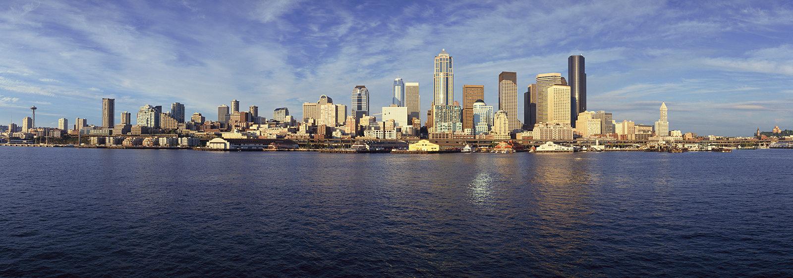 Seattle, Washington skyline from Puget Sound