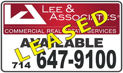 122 000 sf leased by lee associates orange throughout for Lees associates llp