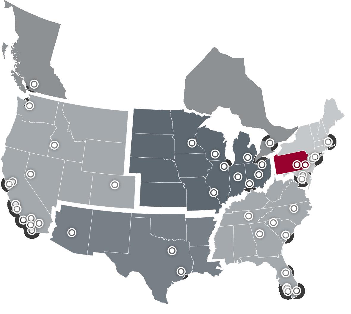 Lee & Associates National Map